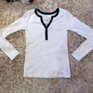 GAP Long Sleeve Button-up Henley Shirt